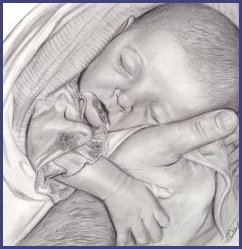 pencil portrait drawing baby girl