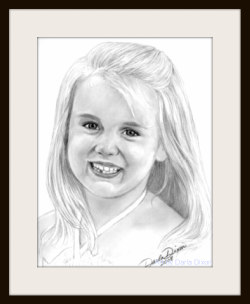 girl pencil portrait graphite drawing sketch