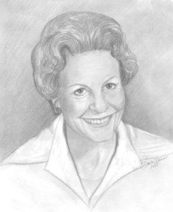 drawing from photo of a woman